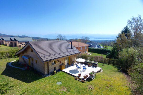 Villa minergie style chalet idéalement située à le Muids